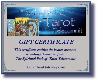 Spiritual Path of Tarot Telesummit Gift Certificate for sales pageSMALL